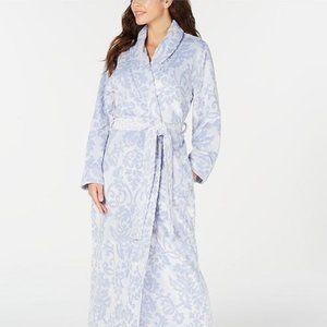 NWT! Charter Club Scroll Lux Plush Long Robe